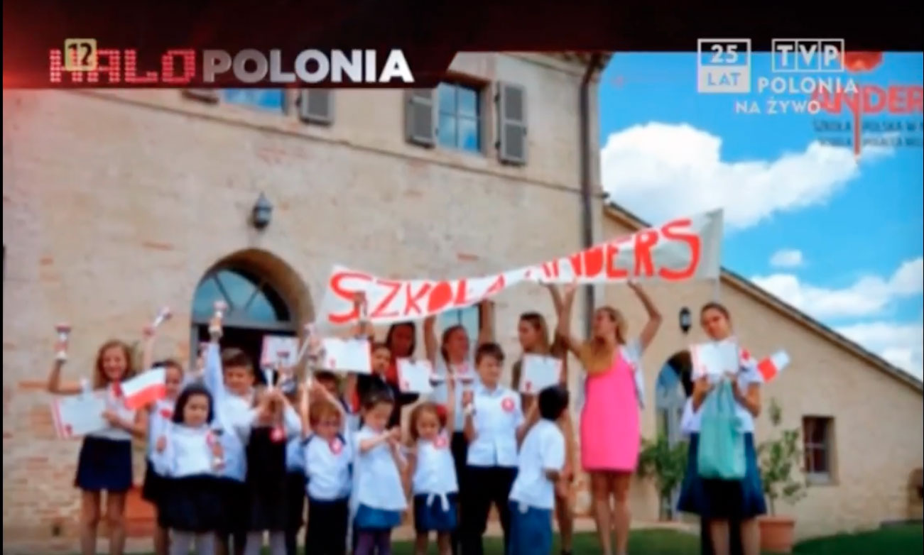 TVP Polonia ANDERS Scuola Polacca Halo Polonia
